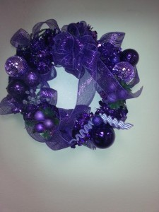 The wreath we raffled off for Epilepsy Awareness month!